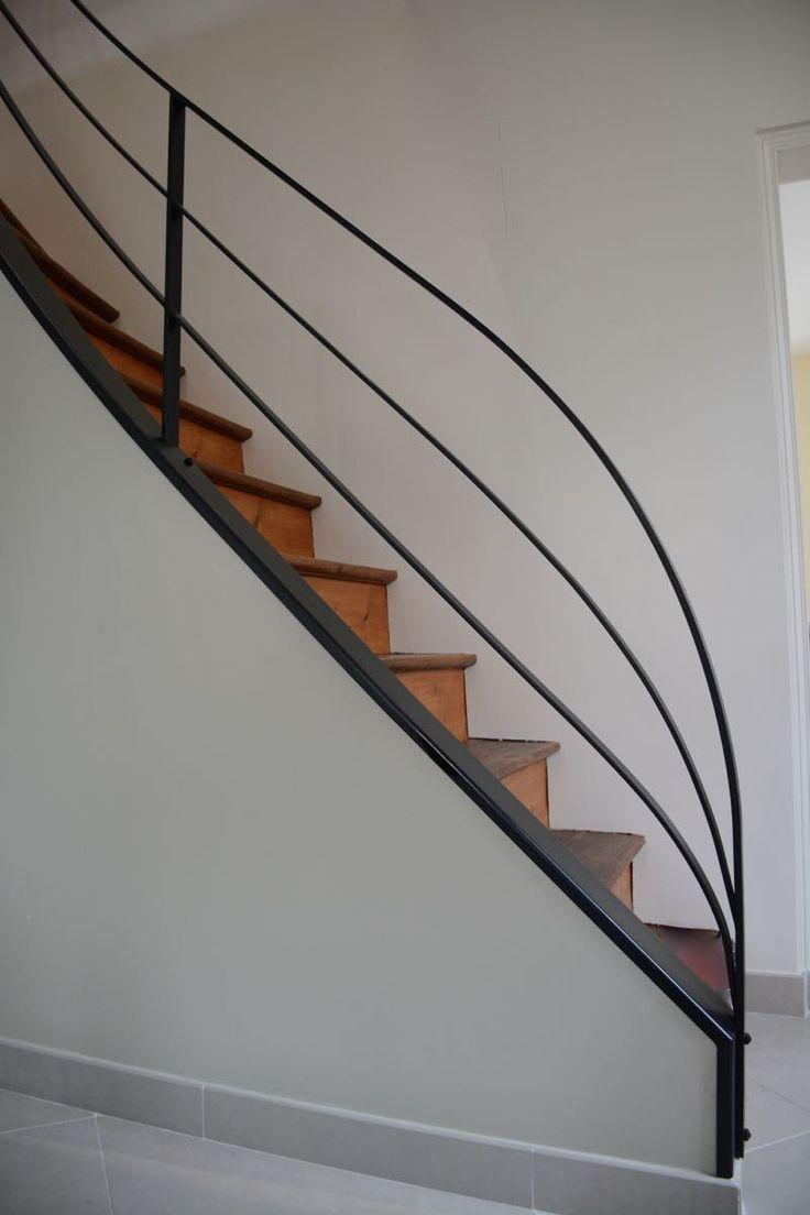 Перила для лестницы в стиле минимализм