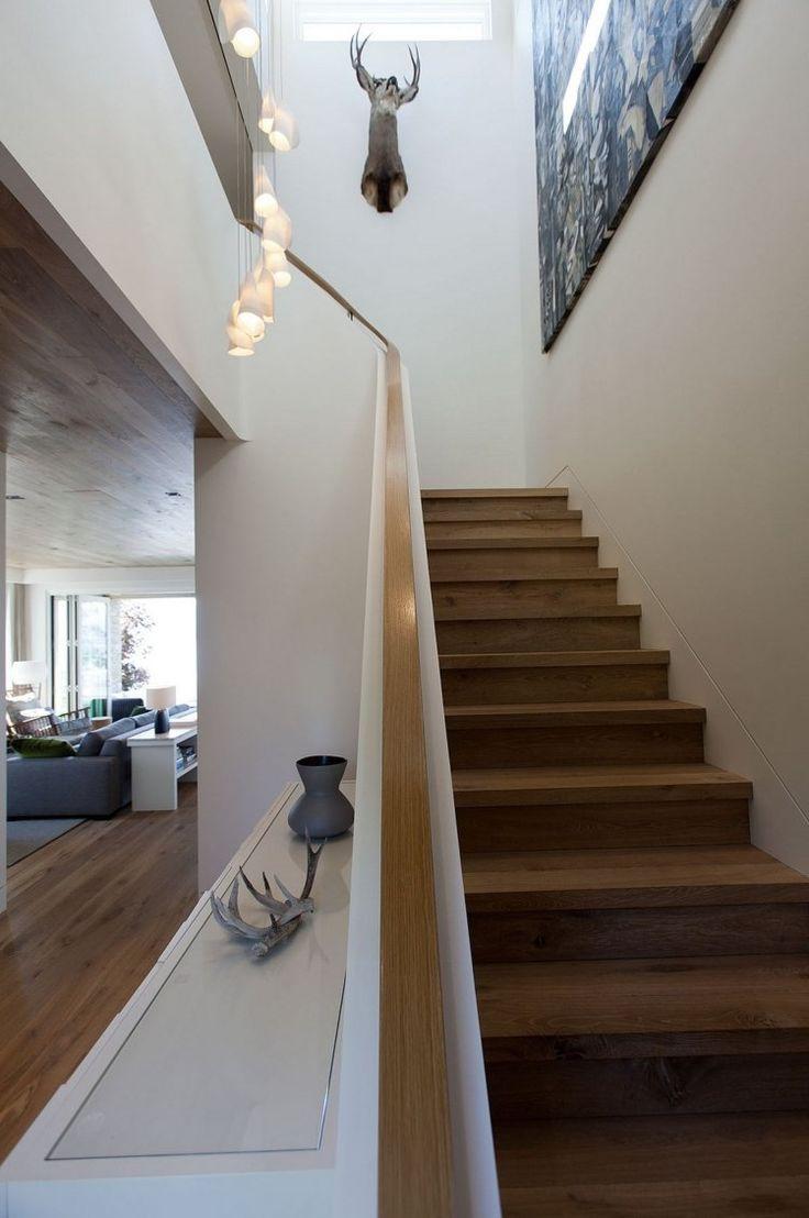 Монолитные перила для лестницы