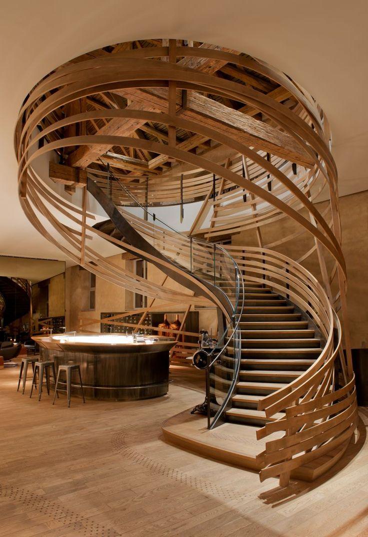 Оригинальные перила для лестницы