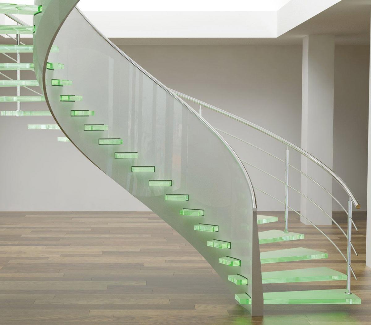 Перила из ПВХ и металла для лестницы