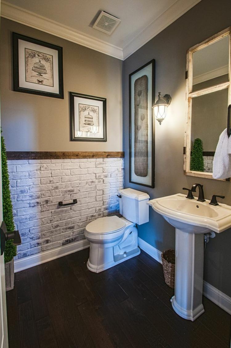 Покраска стен в ванной в серый цвет
