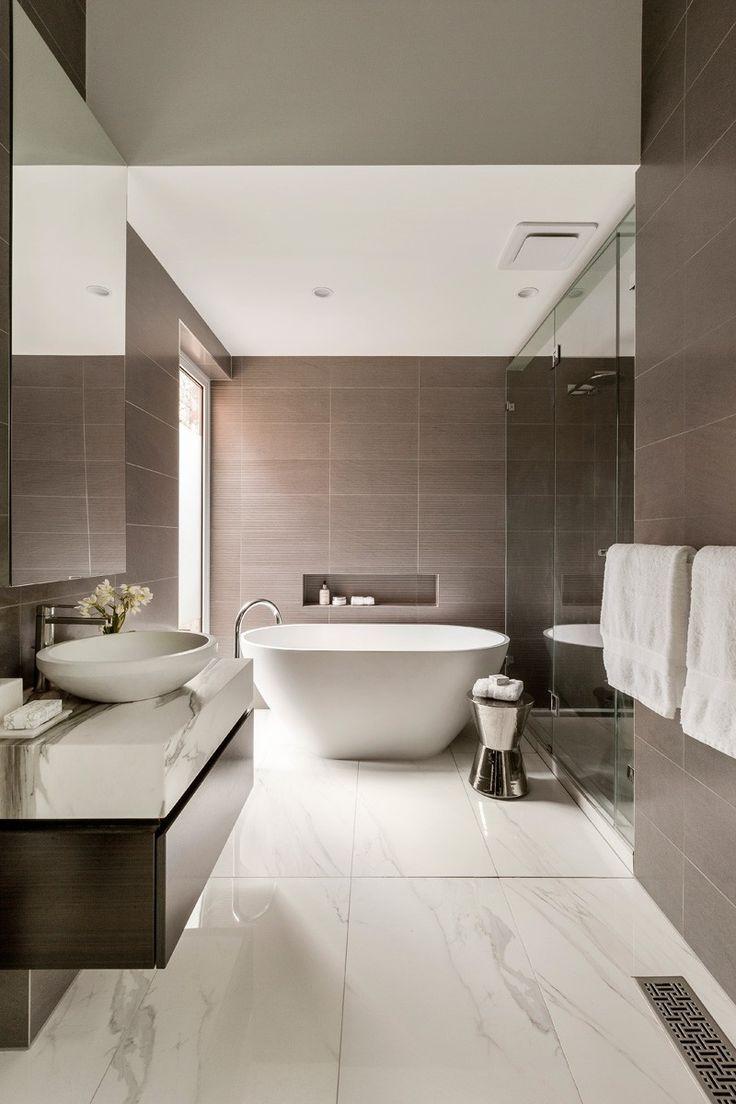 Бежевая ванная комната серая