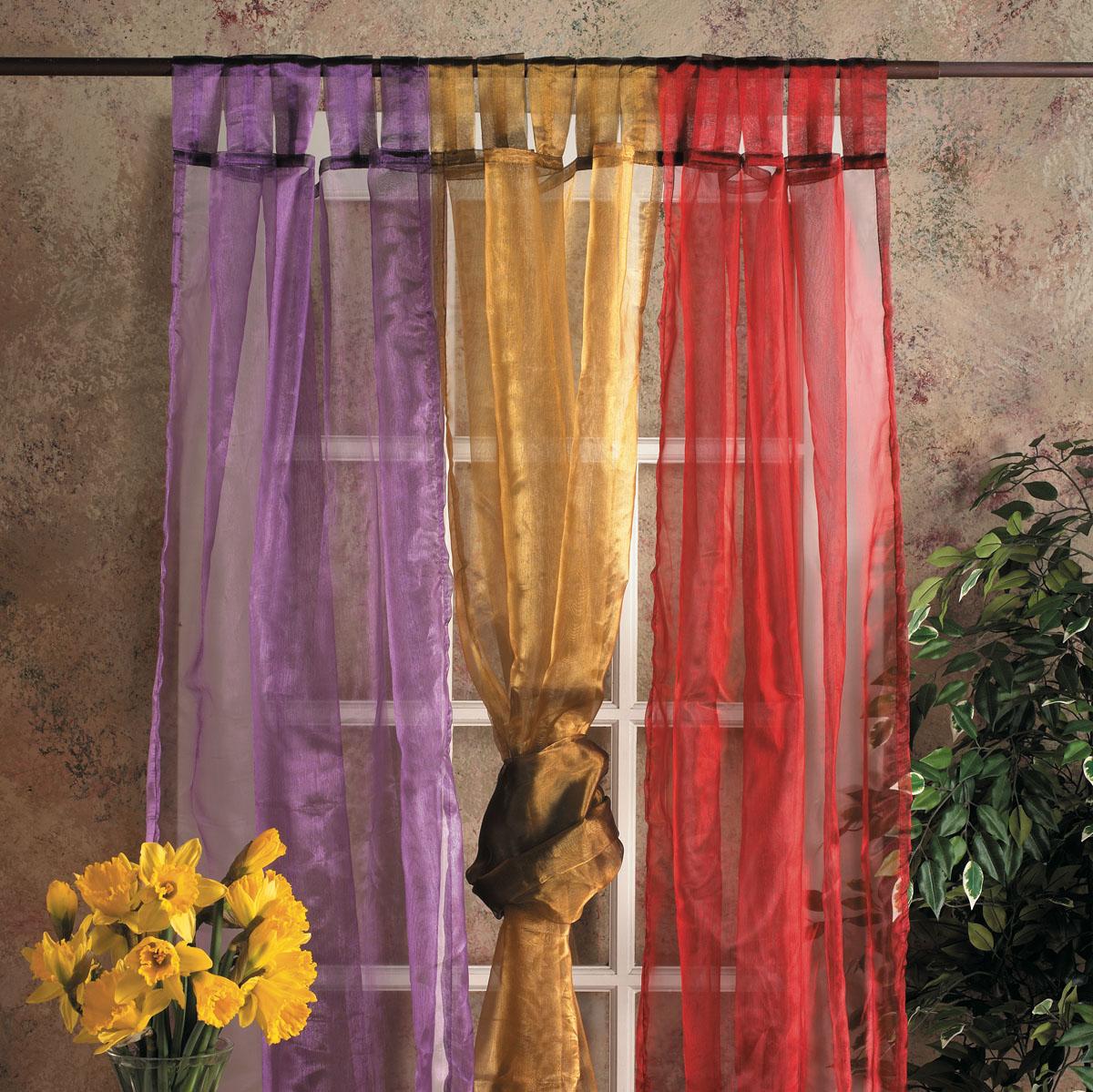 Разноцветные шторы из органзы