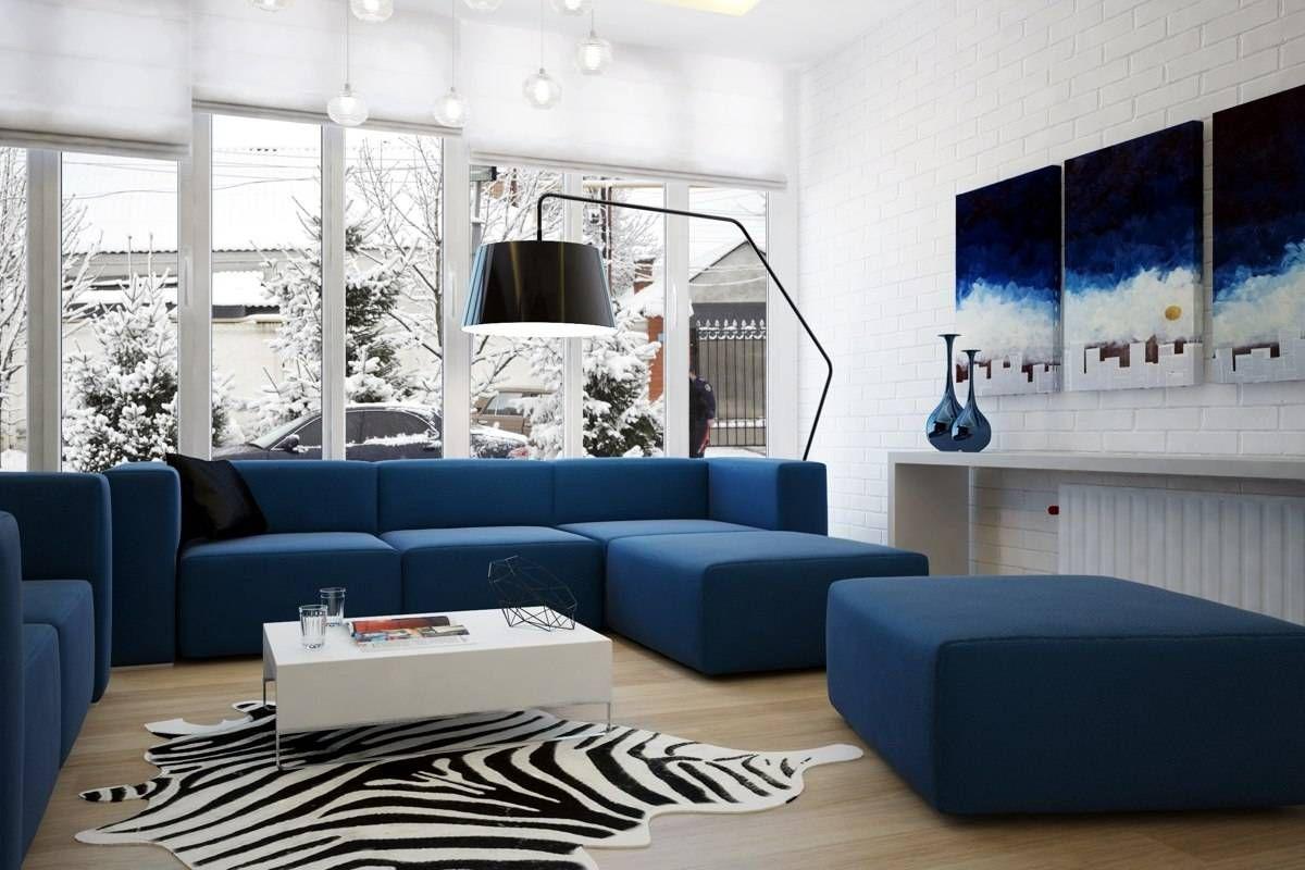 Сине-белая гостиная