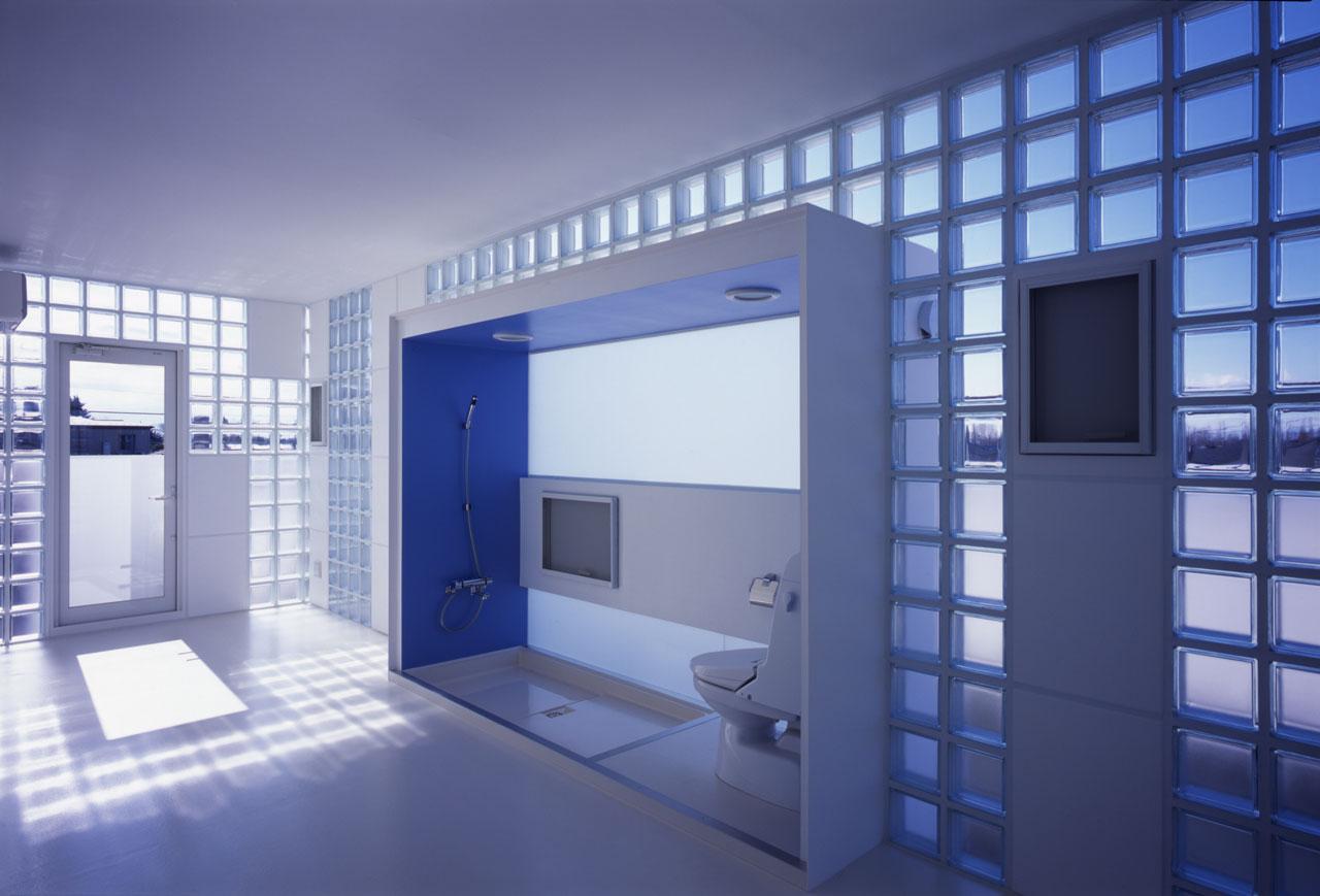 Прозрачные стеклоблоки в интерьере