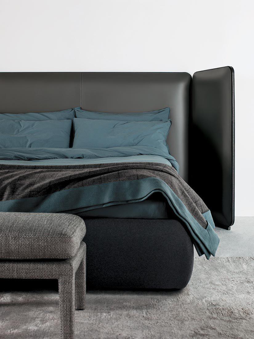 Кровать с мягким изголовьем трансформером