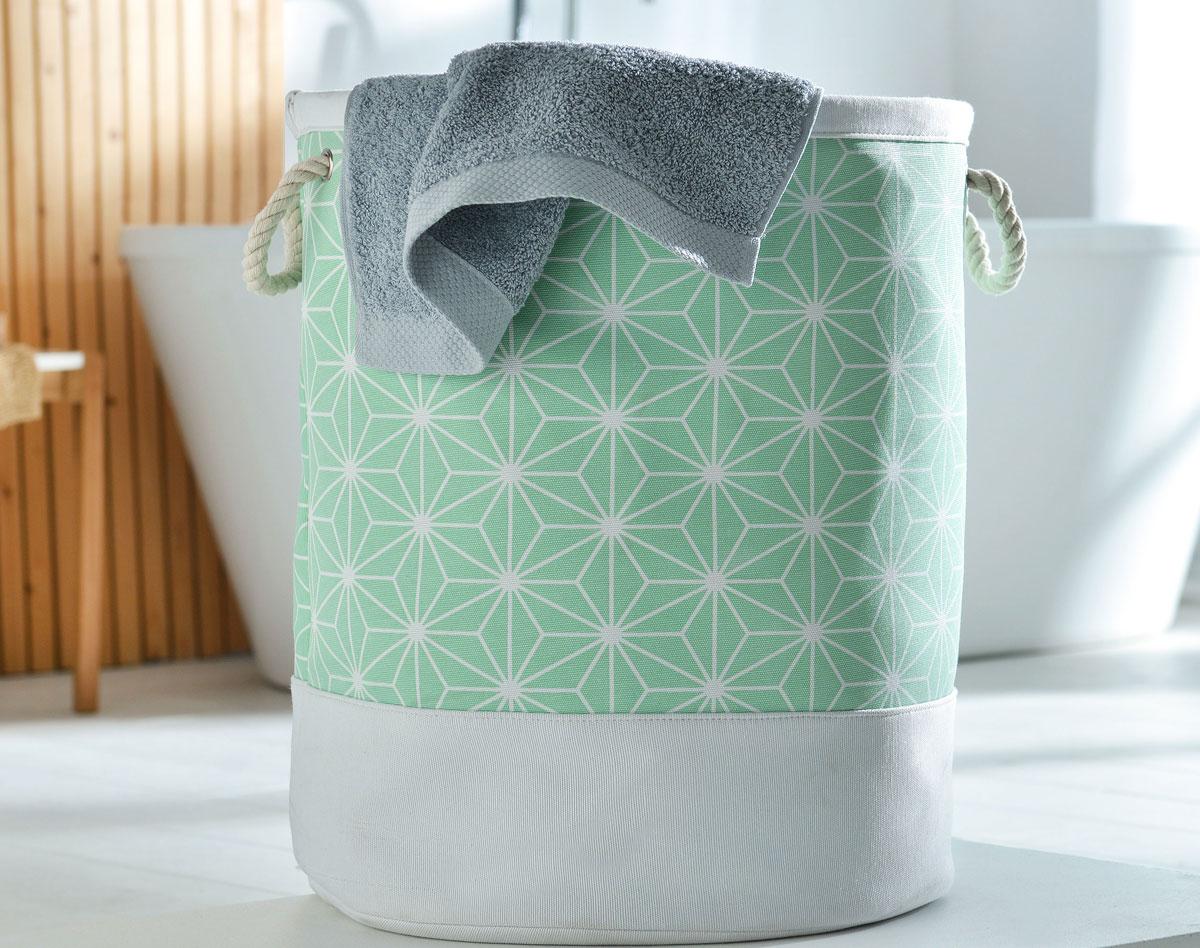 Корзина для белья текстильная
