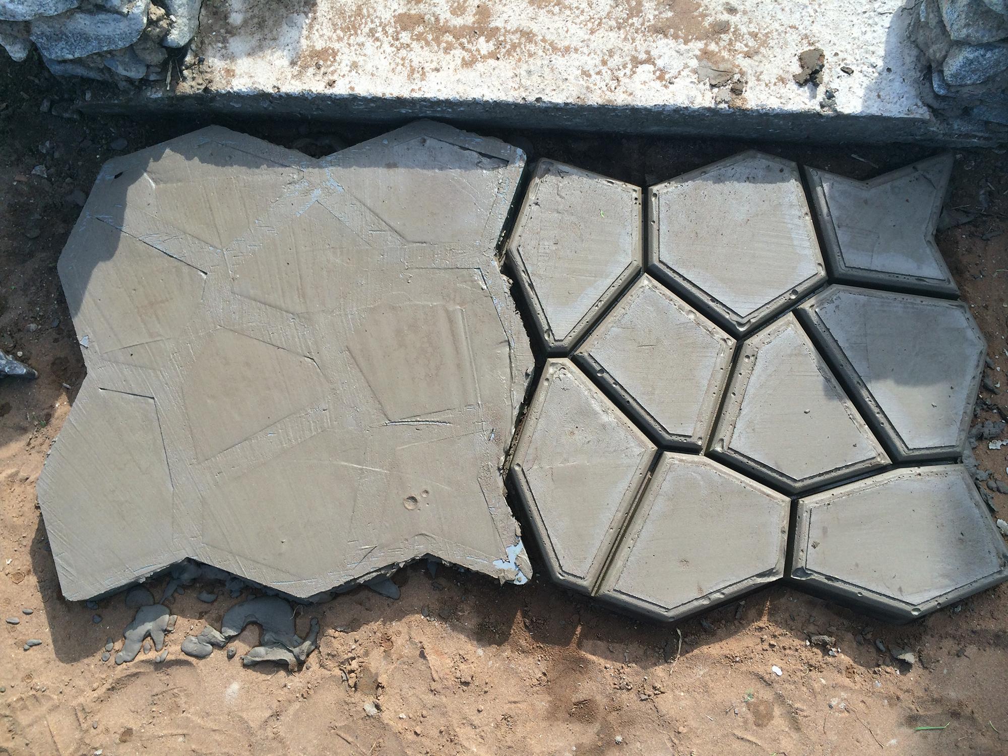Процесс создания бетонной дорожки на участке
