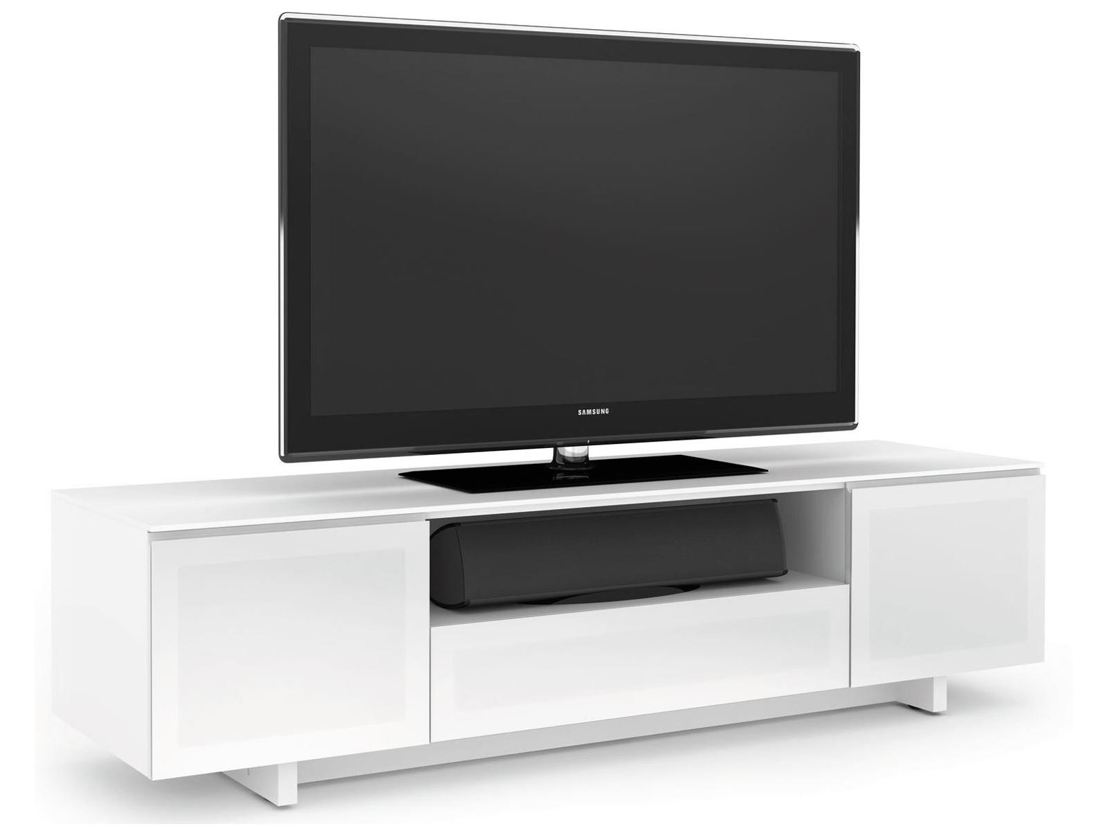 Модная белая тумба под телевизор
