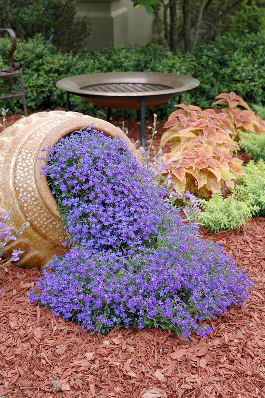 Красивый цветочный декор участка