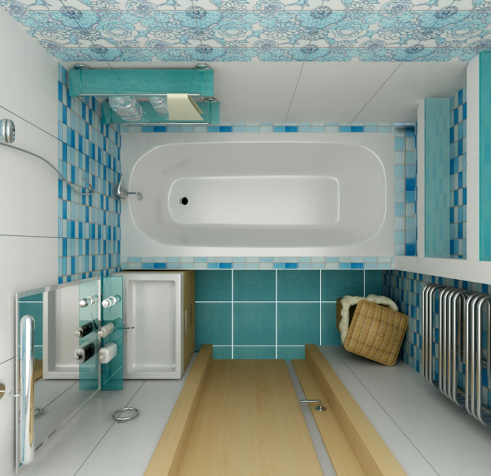 План маленькой ванной комнаты без унитаза