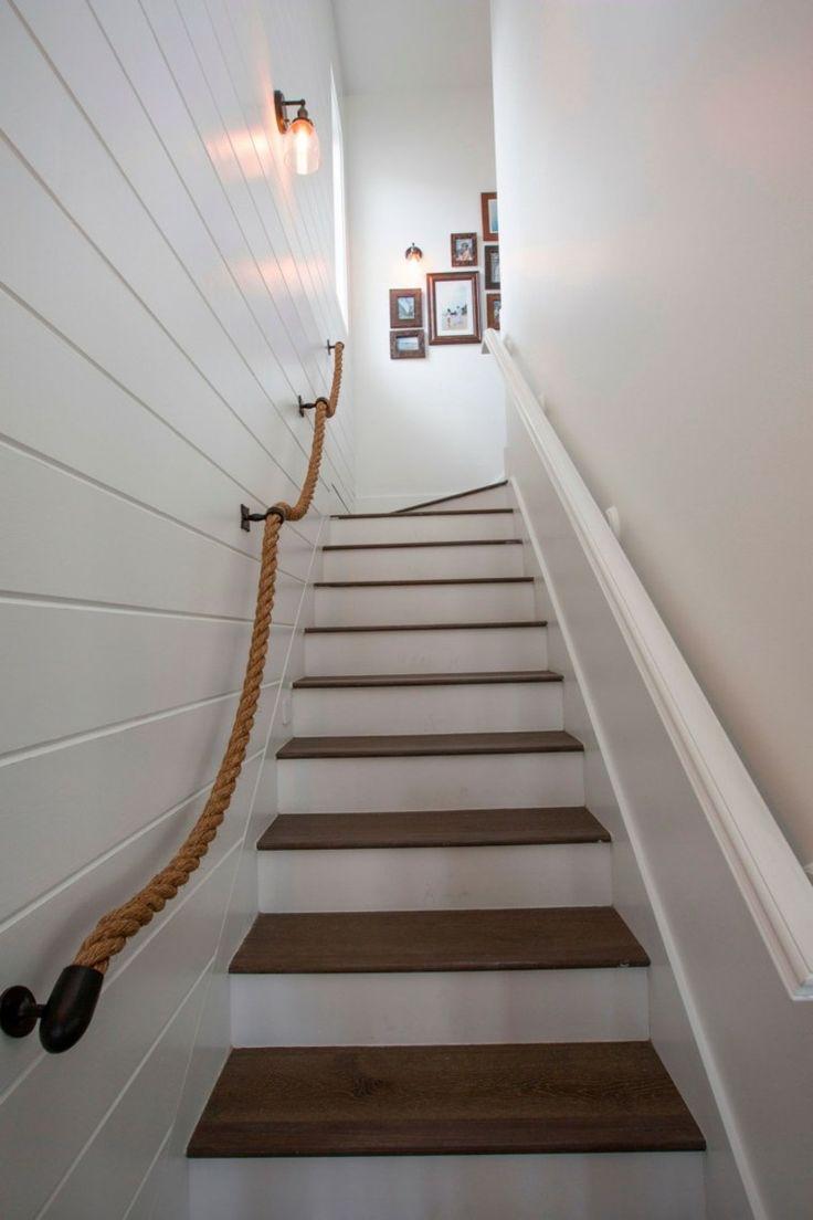 Веревка-перила для лестницы