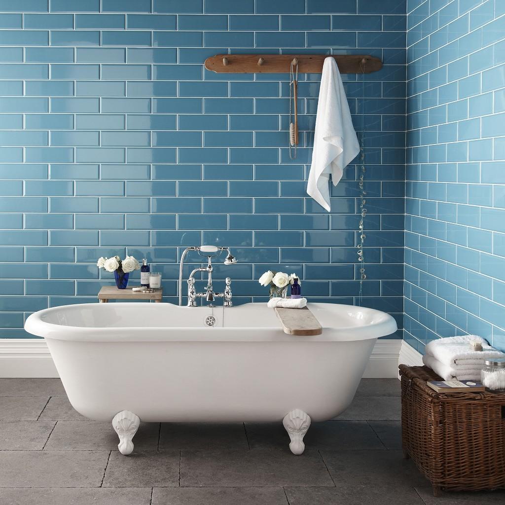 Голубая ванная комната (19 фото): свежий дизайн и красивые сочетания