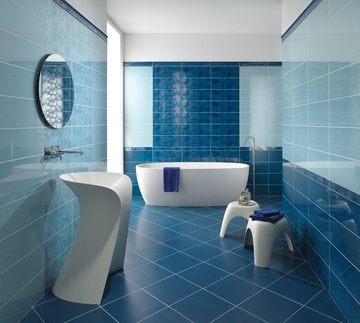 Аксессуары для голубой ванной комнаты