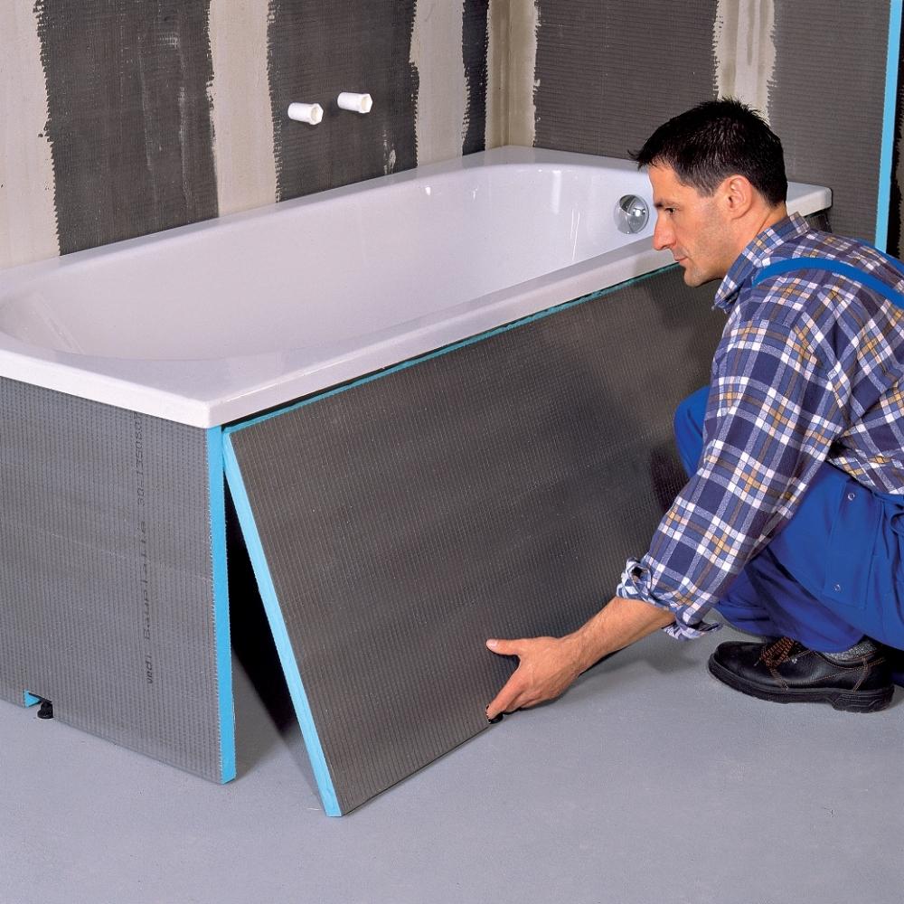 Установка панелей под ванну