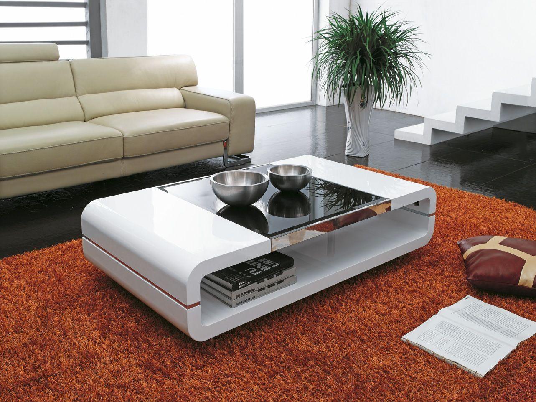 Современный белый кофейный столик