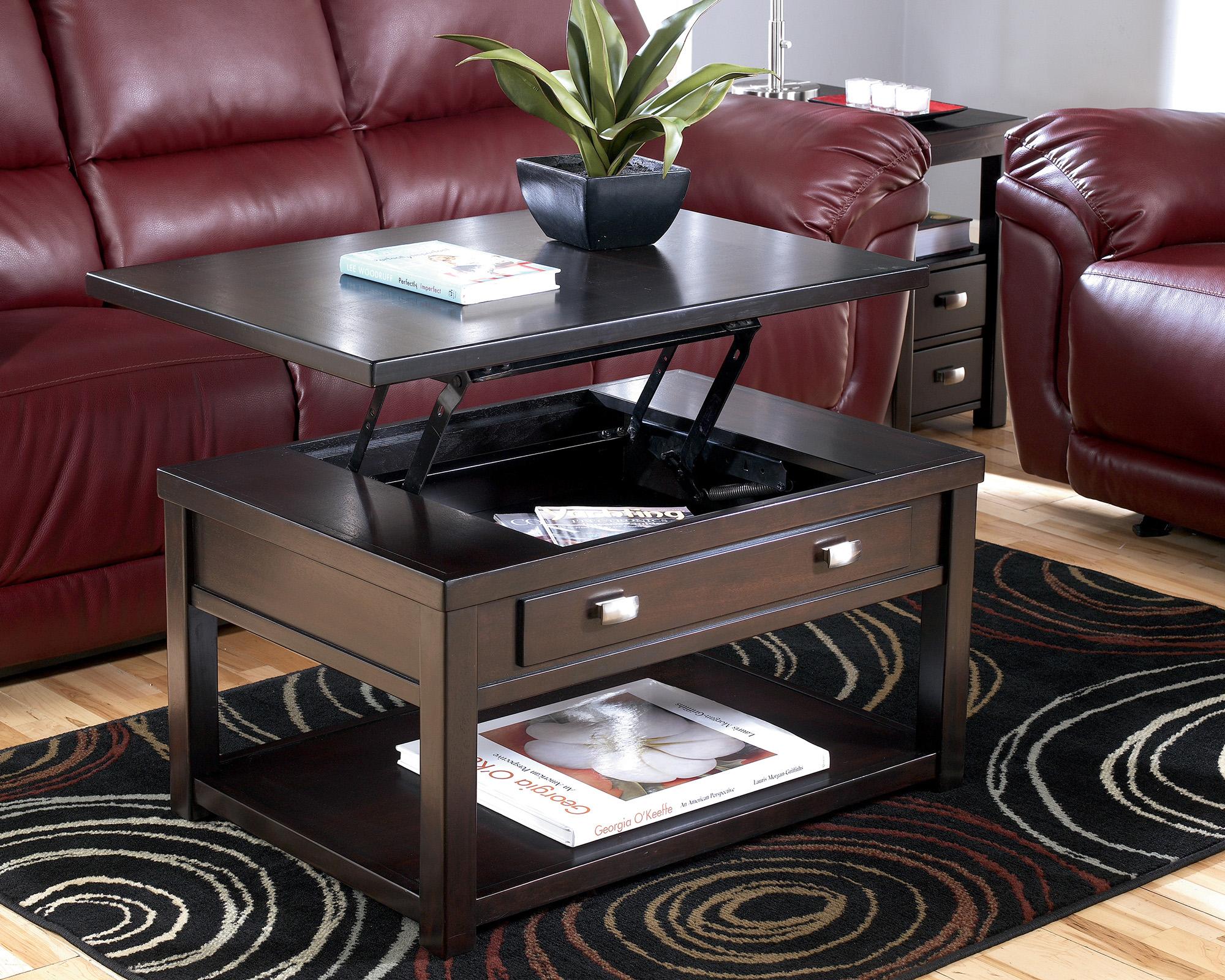 Стильный кофейный столик-трансформер