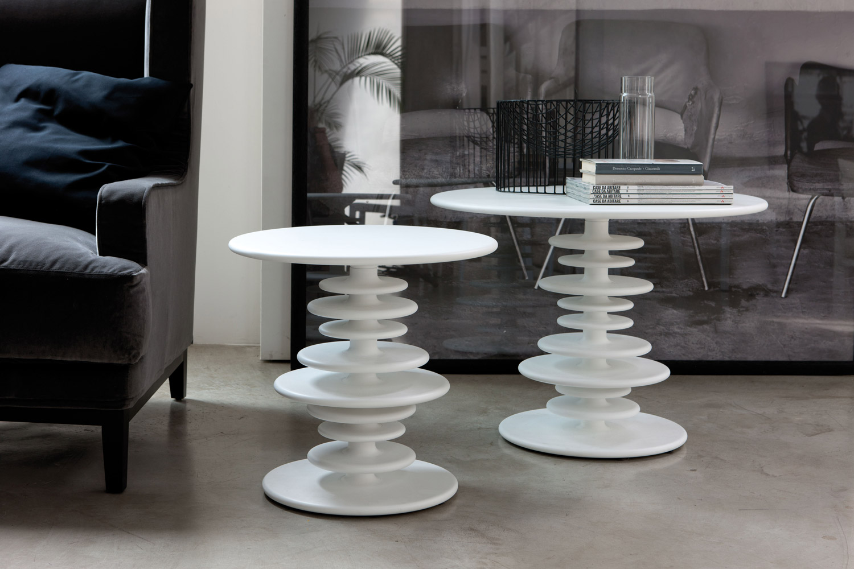 Дизайнерские белые кофейные столики