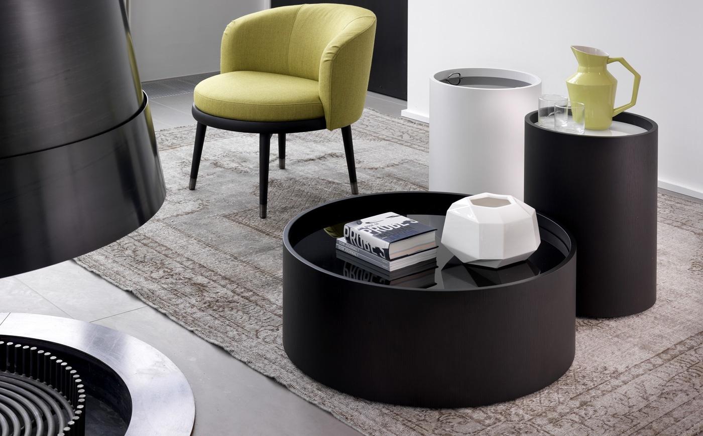 Модные черные и белые кофейные столики в стиле хай-тек