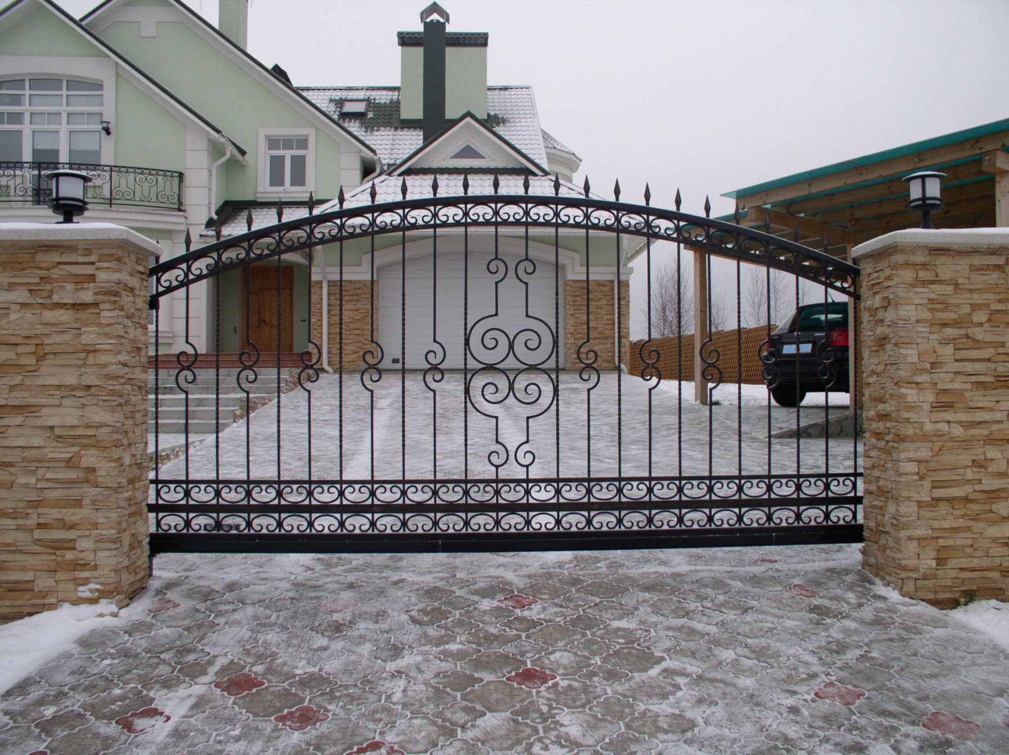 Простые кованые ворота