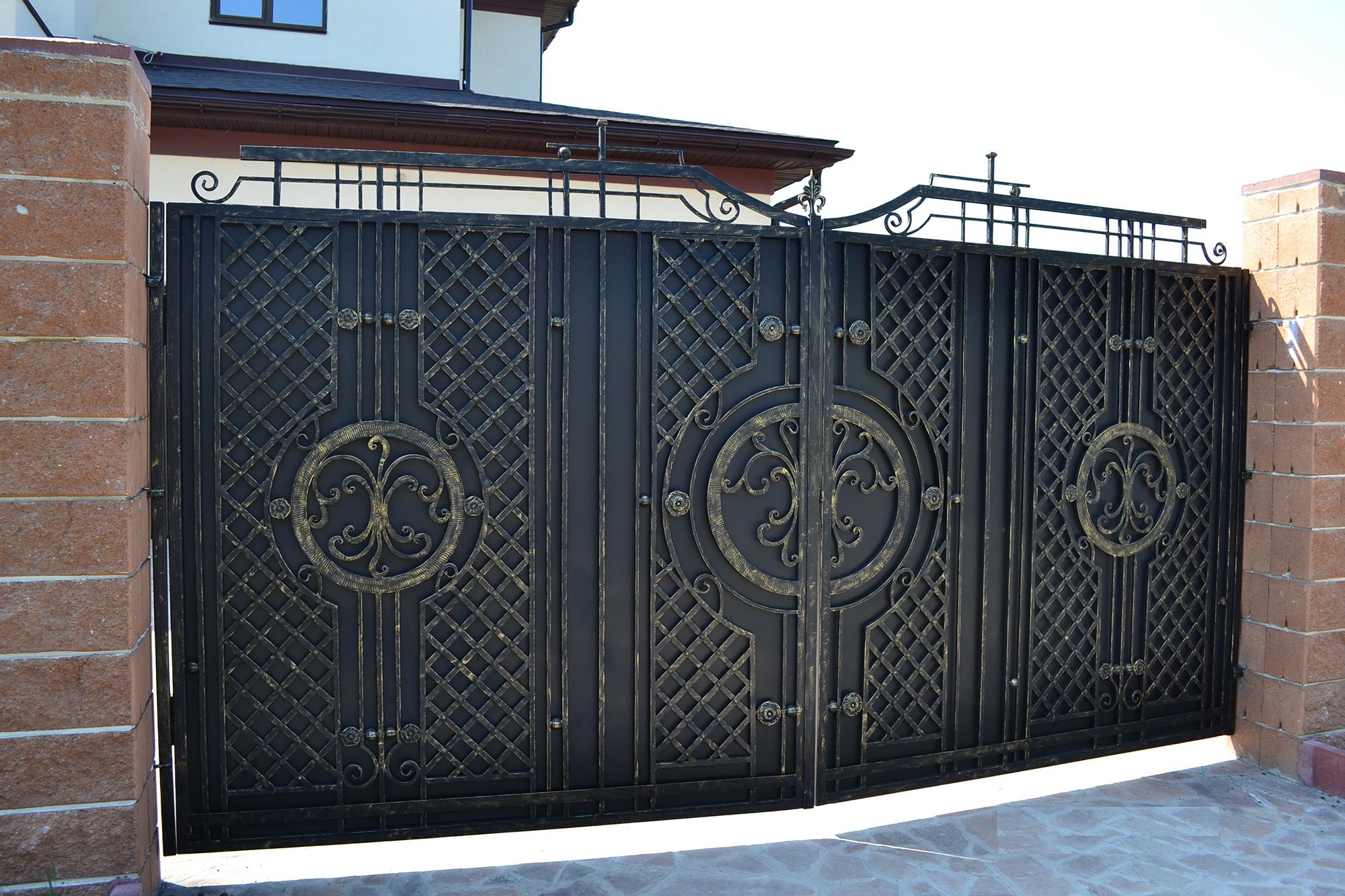 Надежные кованые ворота