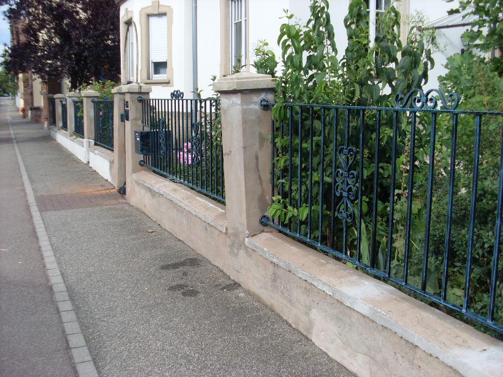 Крашеный кованый забор