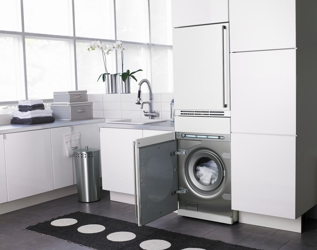 Размещение стиральной машины
