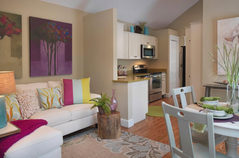 Уютная кухня-гостиная-столовая