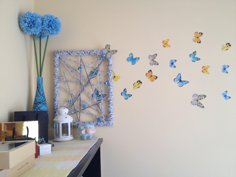 Декоративное панно в виде бабочек