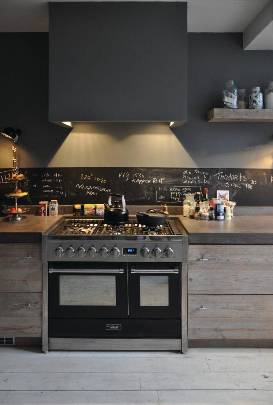 Подсветка кухни черной