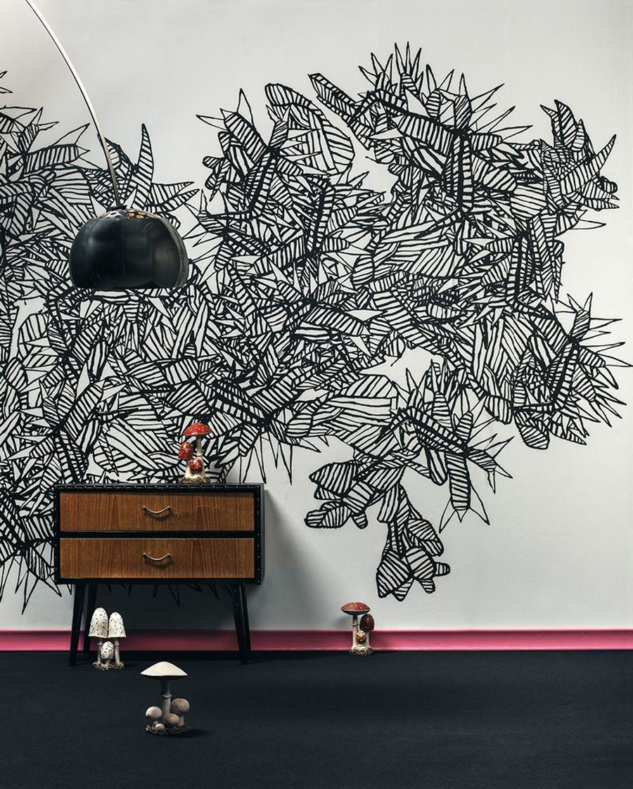 Роспись стен графикой