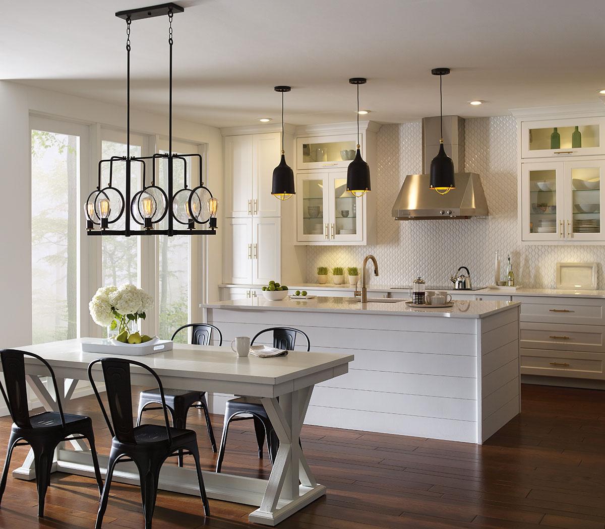 Подсветка интерьера кухни