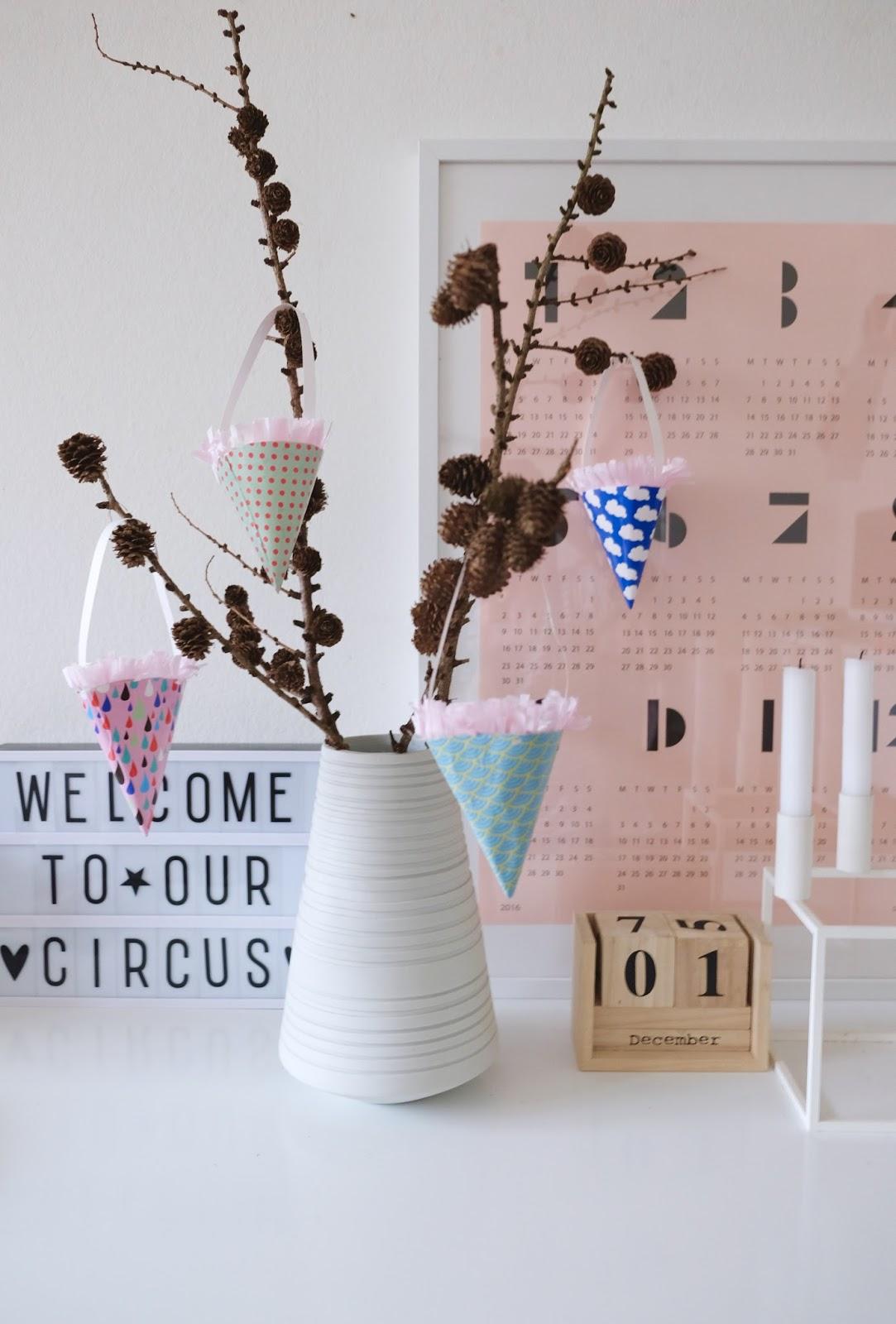 Новогодние украшения для конфет из бумаги