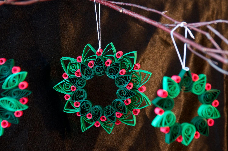 Новогодние украшения из бумаги квиллинг