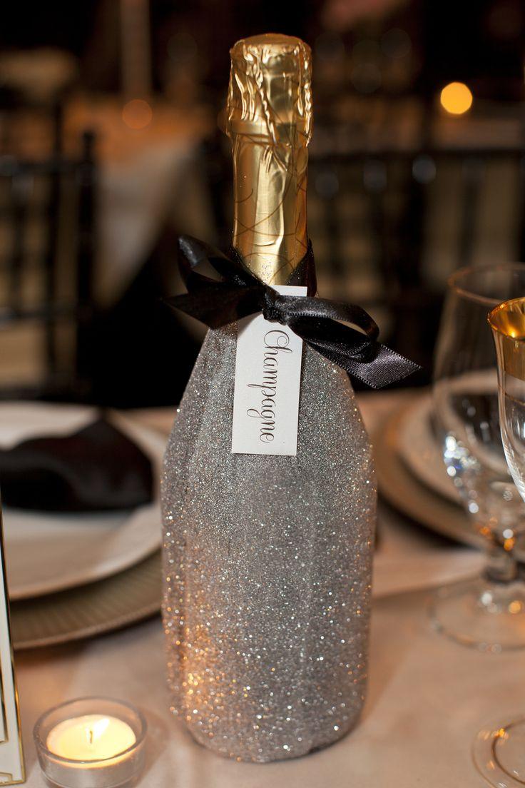 Декор бутылки шампанского