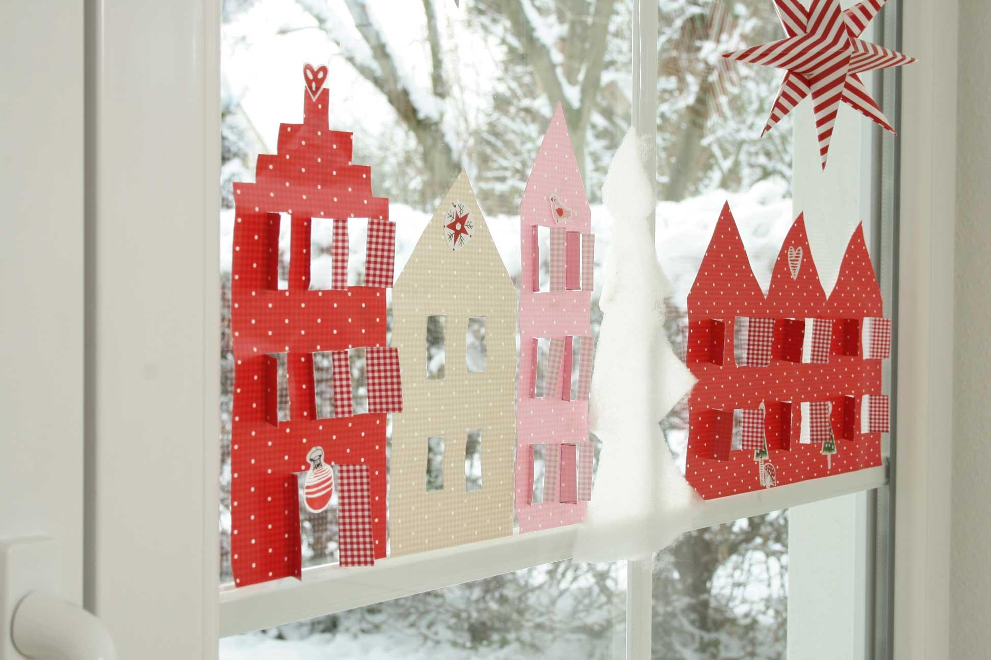 Новогодние украшения из бумаги на окно