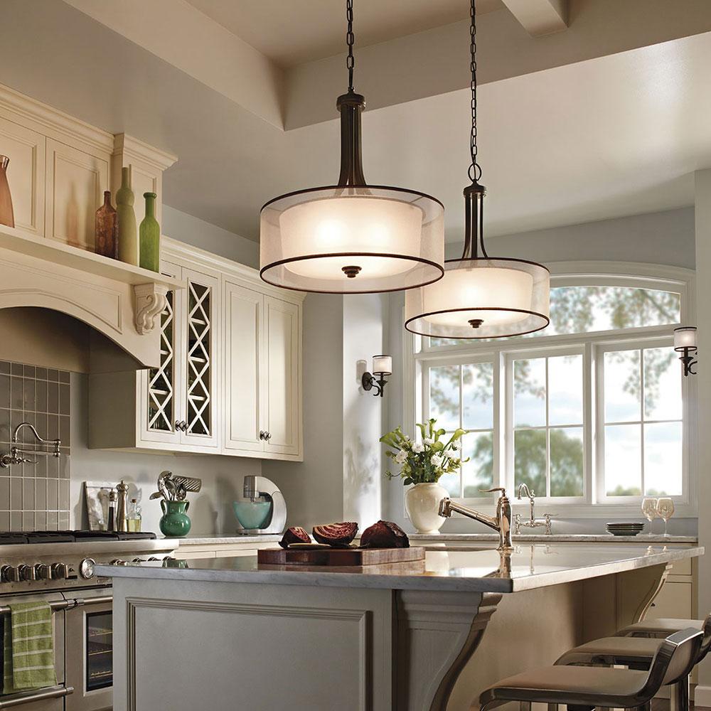 Подсветка кухонного гарнитура в стиле прованс