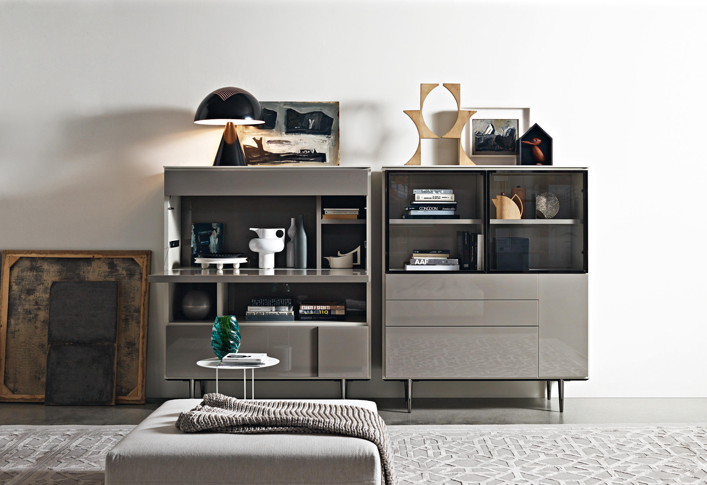 Сервант в гостиную серый в стиле модерн