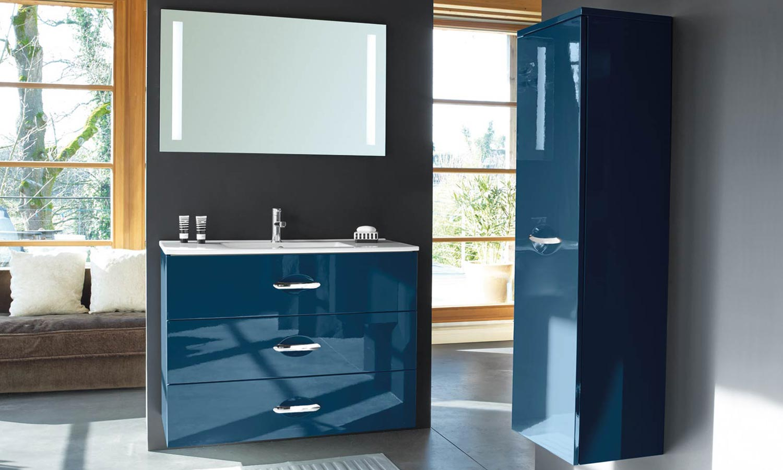 Шкафчик для ванной синий