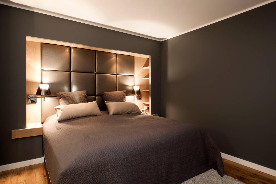 Оформление ниши в спальне