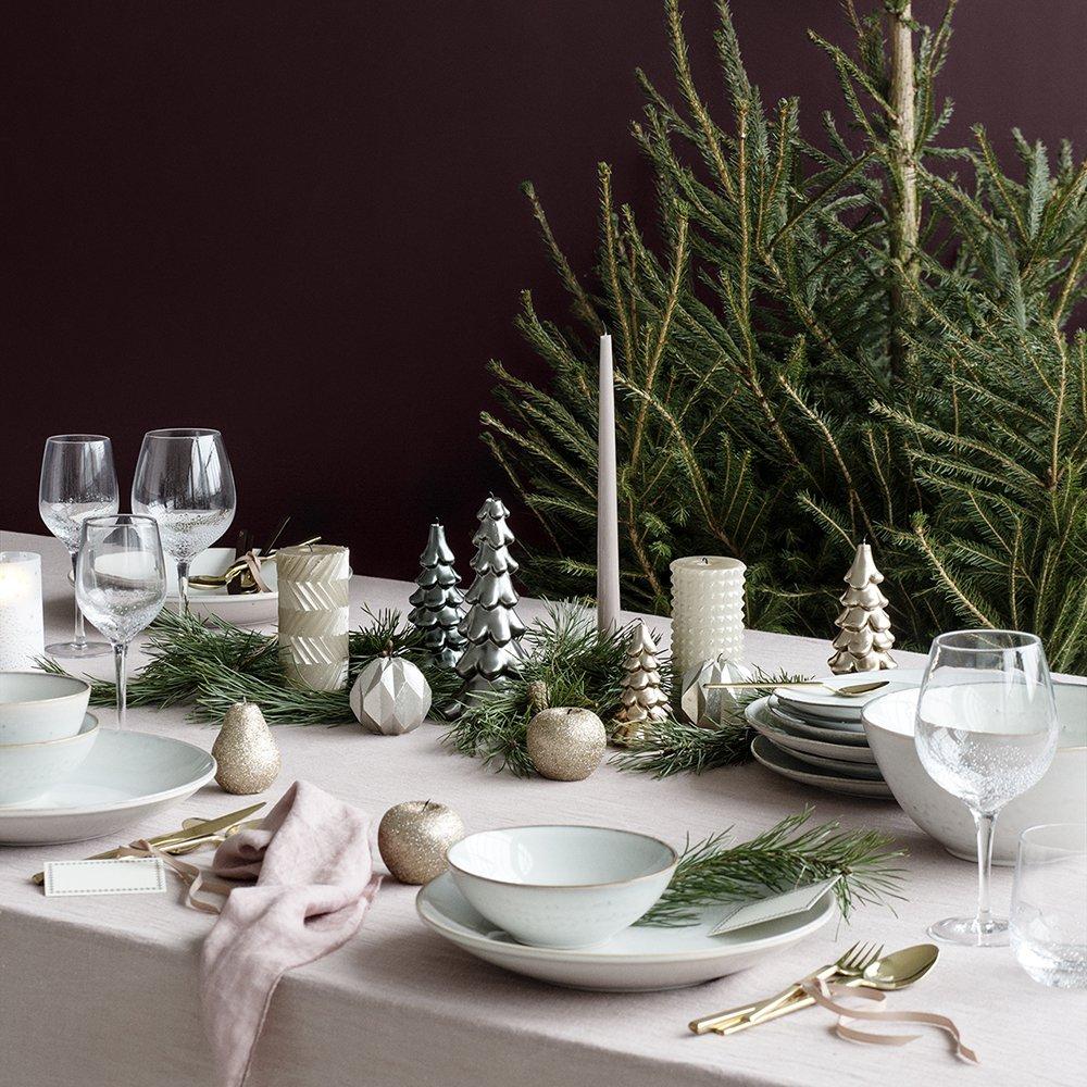Украшение новогоднего стола 2018 свечами