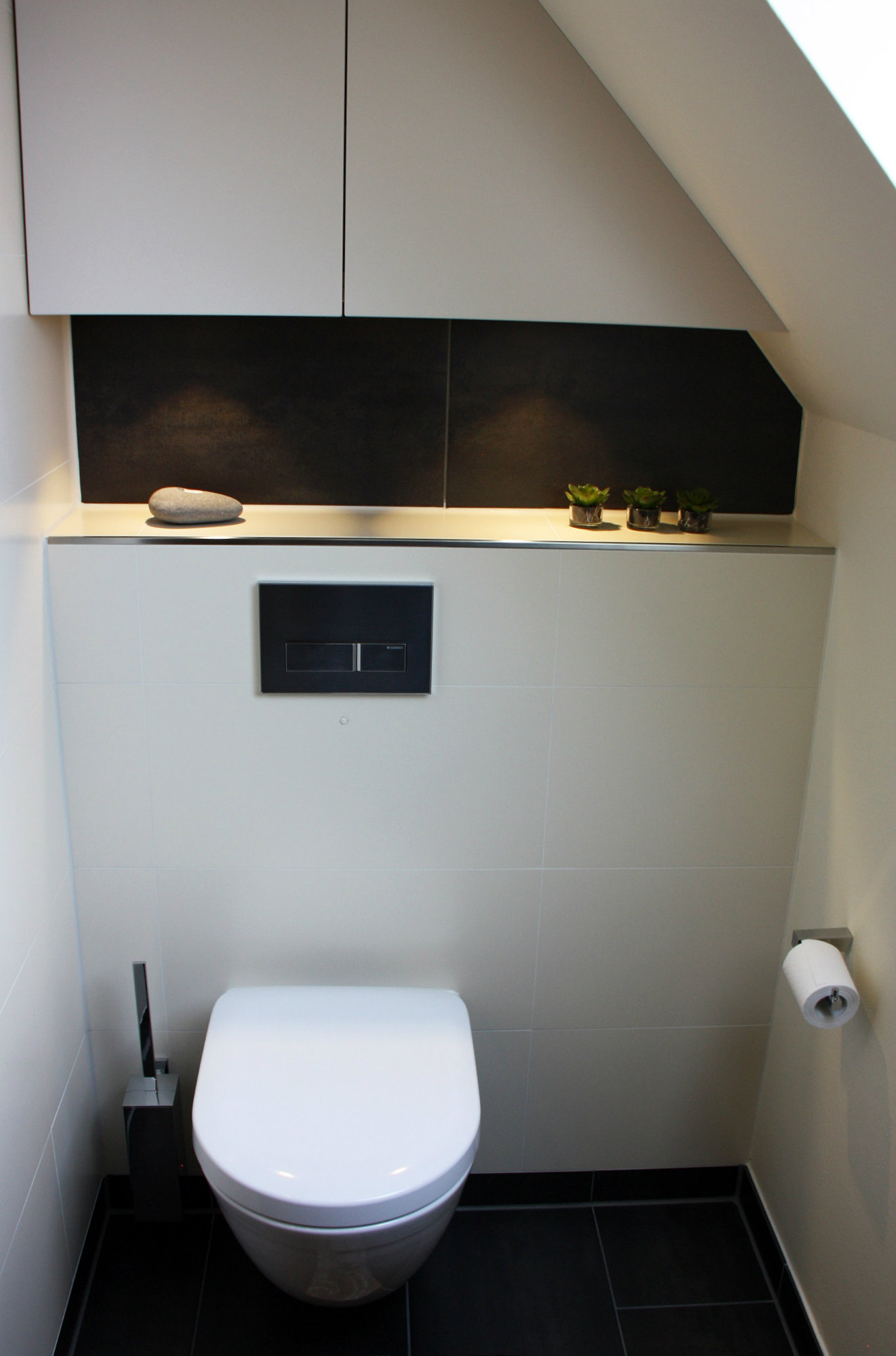 Оформление ниши в туалете