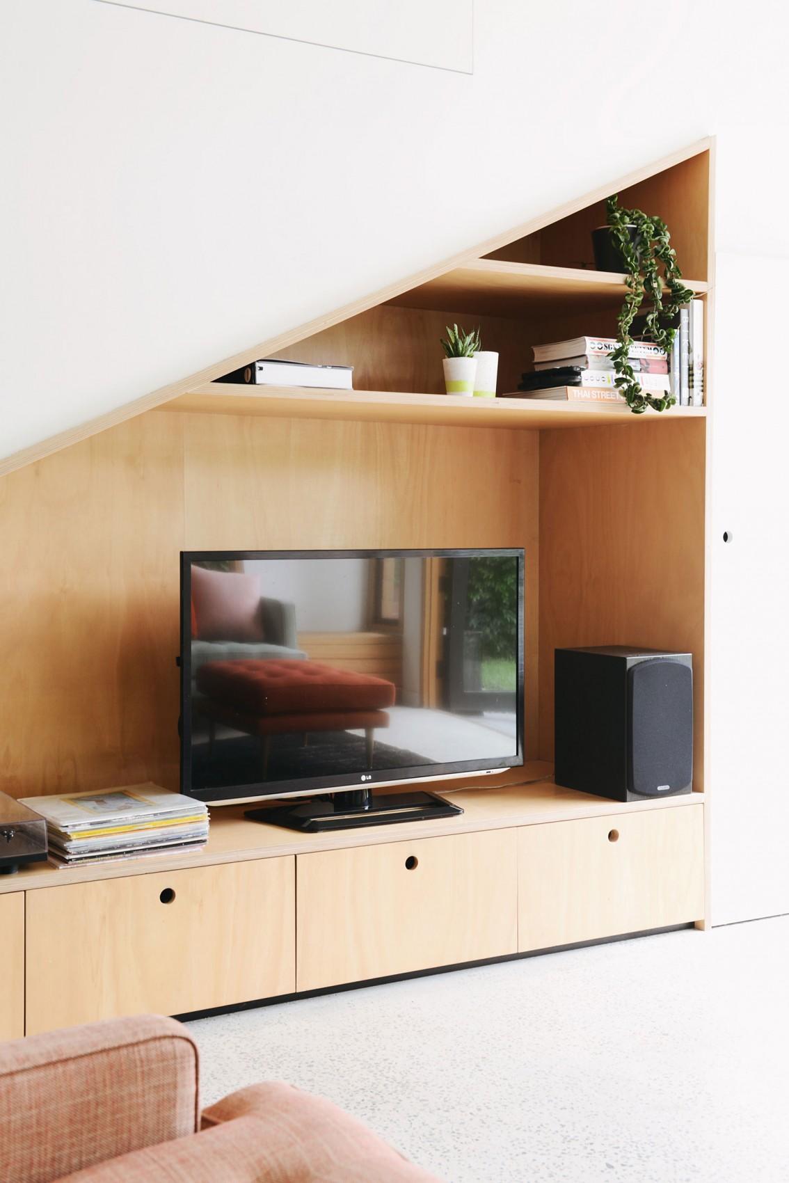 Оформление ниши под телевизор