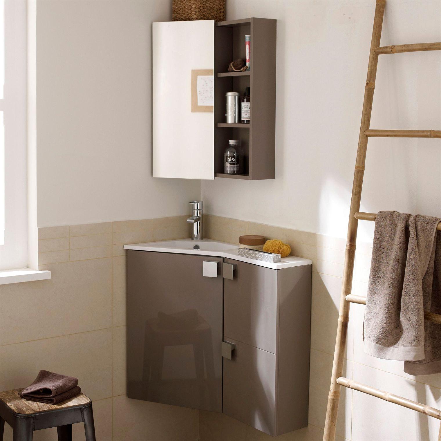 Шкафчик для ванной угловой