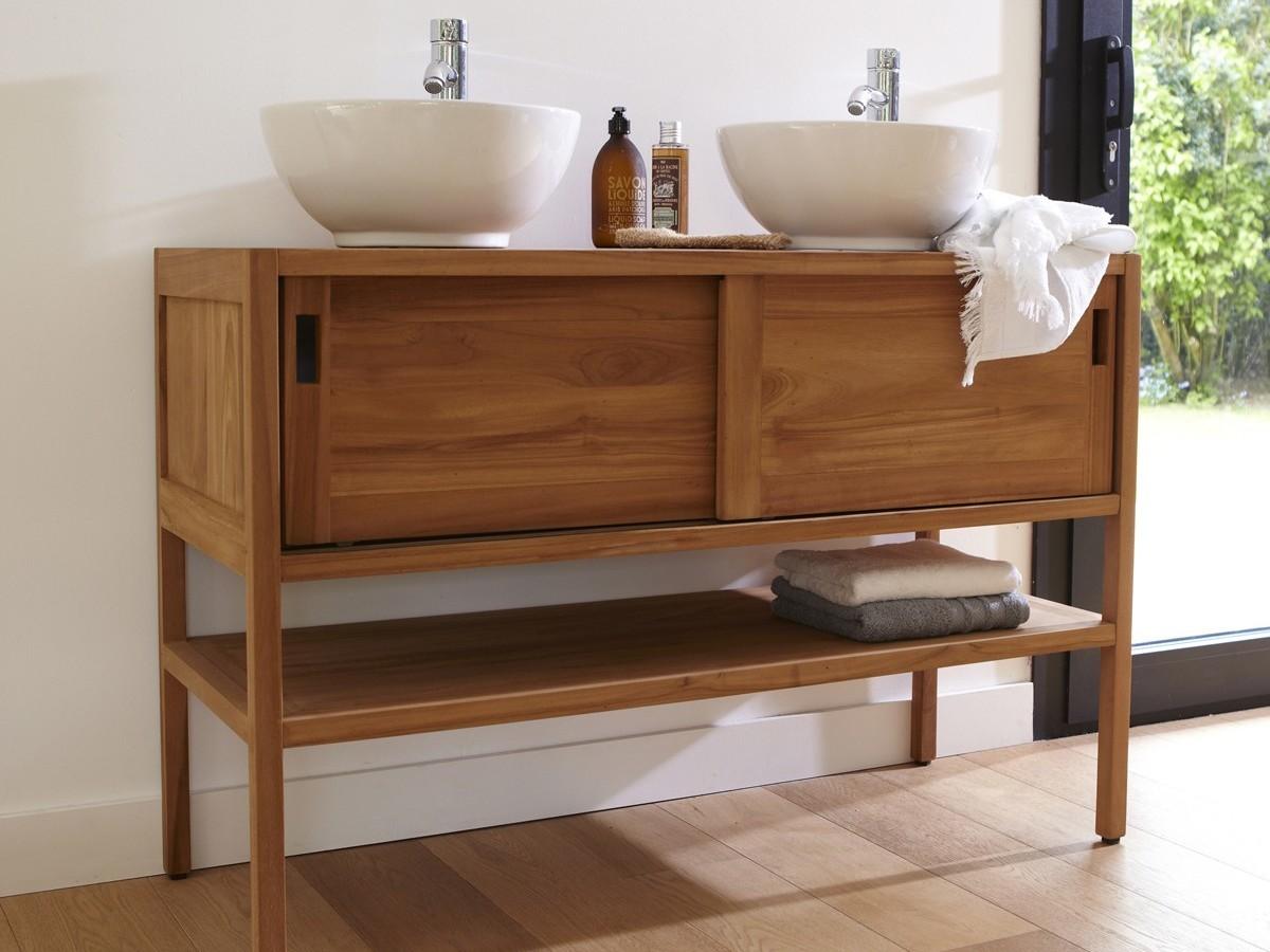 Коричневая мебель для ванной
