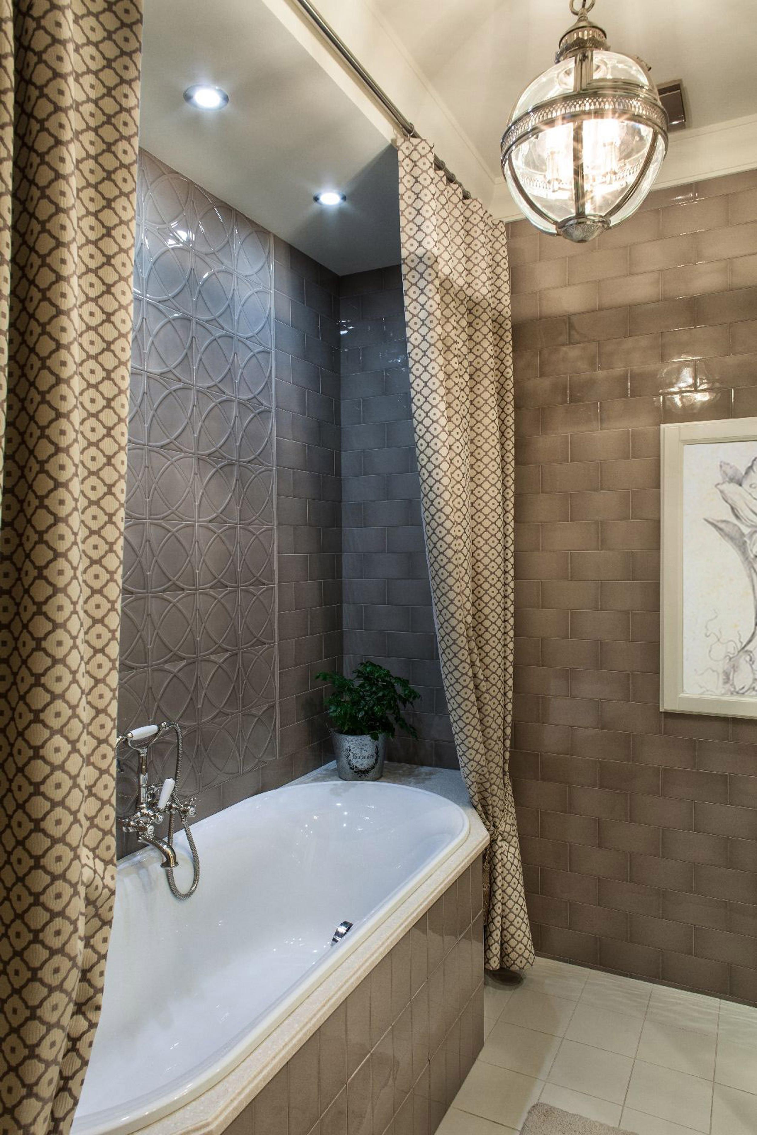 Светло-коричневая ванная