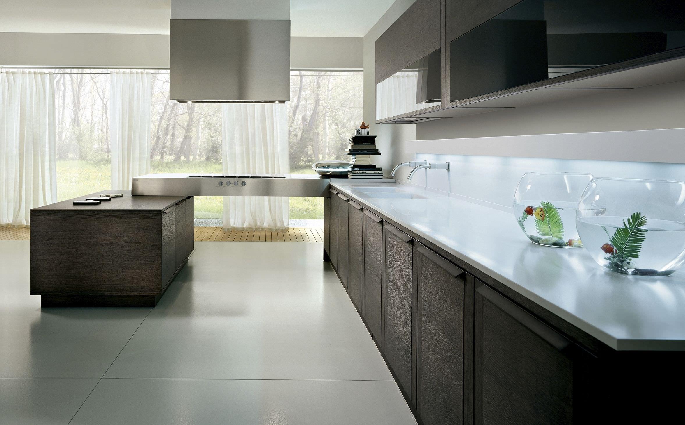 Подсветка кухонного гарнитура венге