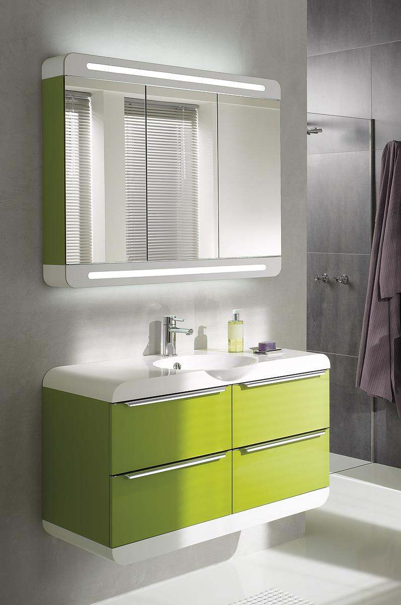 Шкафчик для ванной зеленый