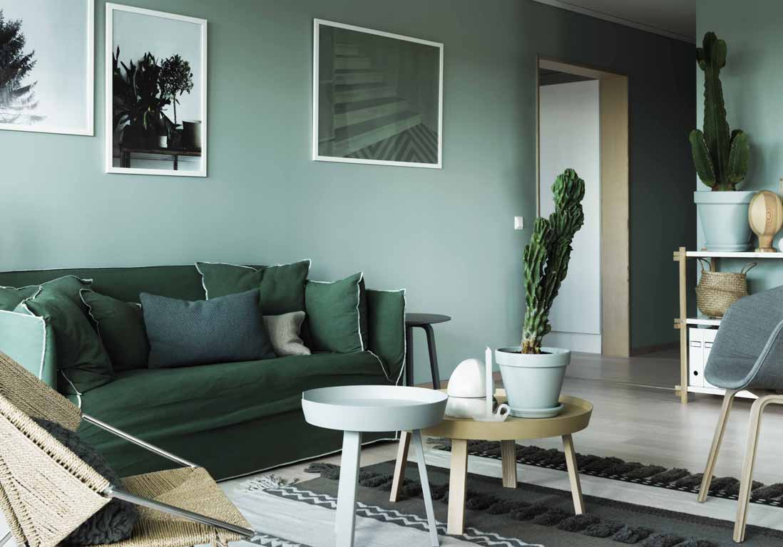 Тренды в дизайне интерьера 2017 с диваном