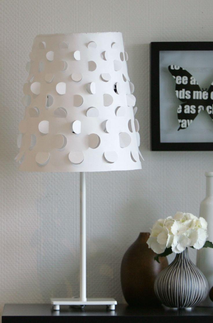 Бумажный абажур лампы